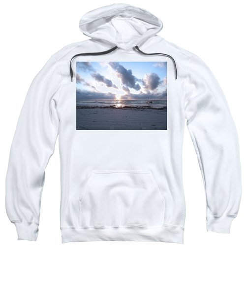 Coloured Sky - Sun Rays And Wooden Dhows Sweatshirt