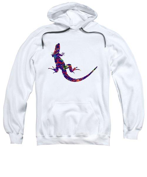 Colourful Lizard Sweatshirt by Bamalam  Photography