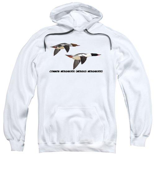 Common Mergansers  Isolated 2014-1 Sweatshirt