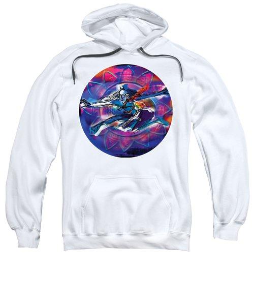 Sweatshirt featuring the painting Cosmic Shiva Speed by Guruji Aruneshvar Paris Art Curator Katrin Suter