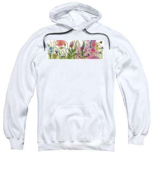Cottage Hollyhock Garden Sweatshirt
