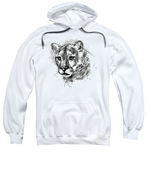 Cougar Head Black And White Sweatshirt