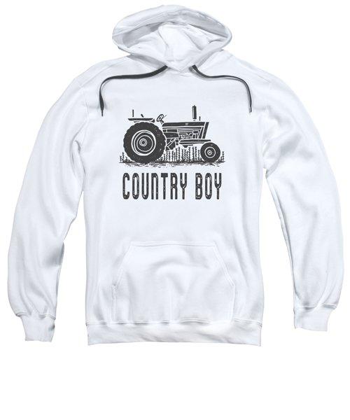 Country Boy Tractor Tee Sweatshirt