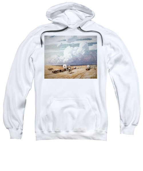 Covered Wagons Heading West Sweatshirt