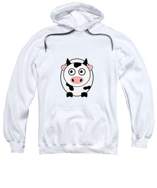 Cow - Animals - Art For Kids Sweatshirt by Anastasiya Malakhova