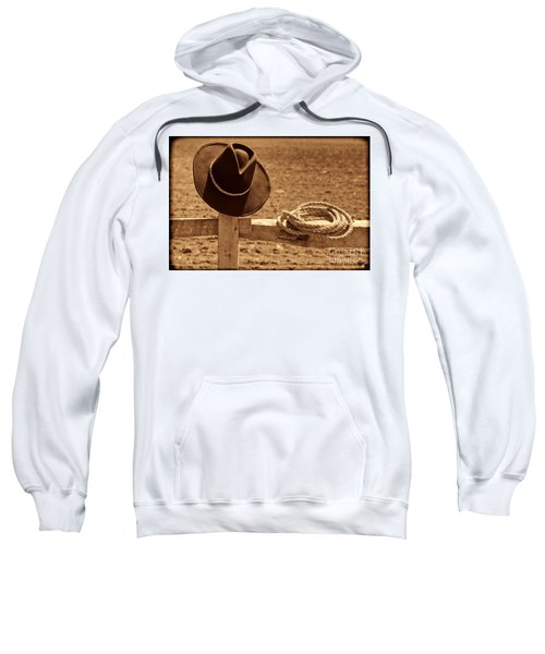 Cowboy Hat And Rope On A Fence Sweatshirt