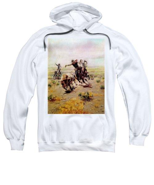 Cowboy Roping A Steer Sweatshirt