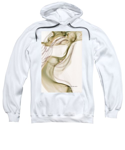 Coy Lady In Hat Swirls Sweatshirt