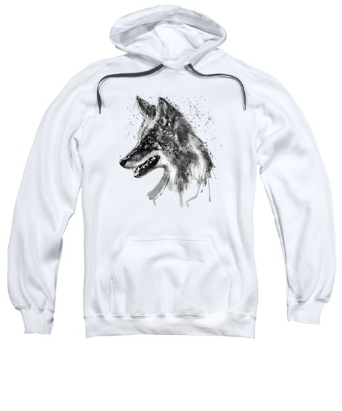 Coyote Head Black And White Sweatshirt