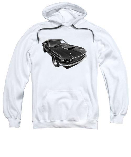 Coz I Can Black And White Sweatshirt