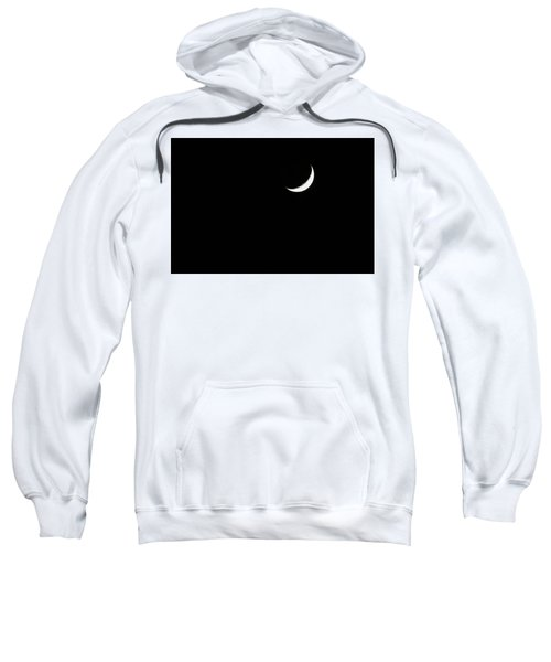Sweatshirt featuring the photograph Crescent Moon  by Alison Frank