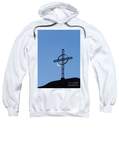 Crescent Moon And Cross Sweatshirt