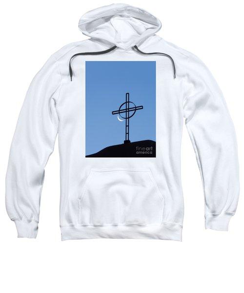 Crescent Moon And Cross Sweatshirt