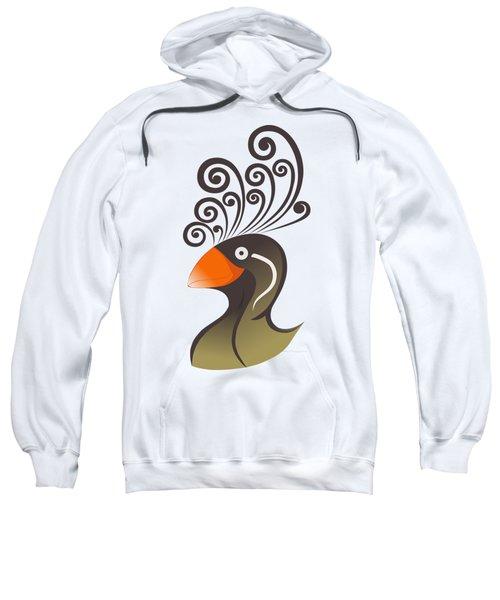 crestedAUKLET Sweatshirt by Mariabelones ART