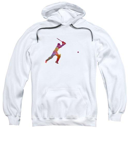 Cricket Player Batsman Silhouette 04 Sweatshirt by Pablo Romero