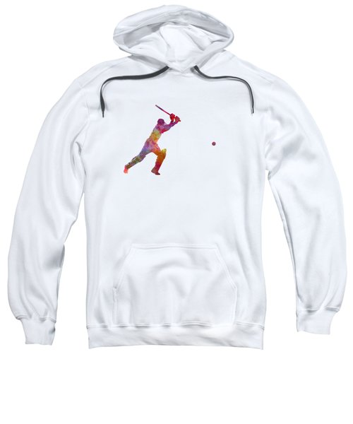 Cricket Player Batsman Silhouette 04 Sweatshirt