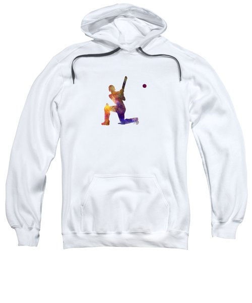 Cricket Player Batsman Silhouette 08 Sweatshirt