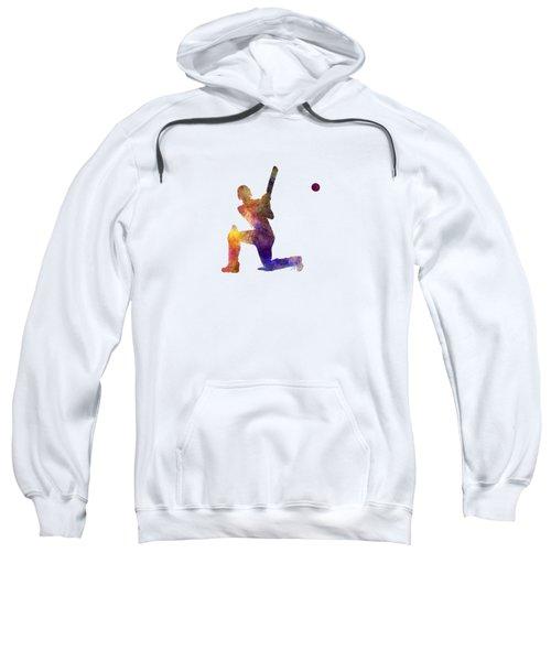 Cricket Player Batsman Silhouette 08 Sweatshirt