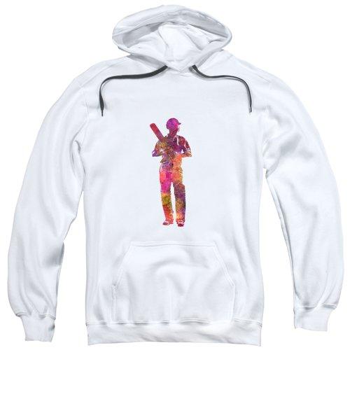 Cricket Player Batsman Silhouette 10 Sweatshirt by Pablo Romero