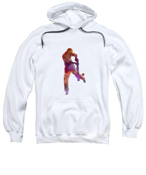 Cricket Player Batsman Silhoutte Sweatshirt by Pablo Romero