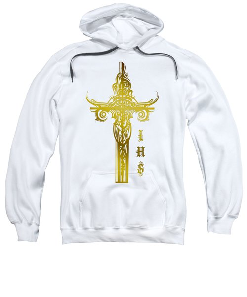 Cross Ihs Gold Sweatshirt