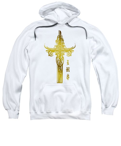Cross Ihs Gold Sweatshirt