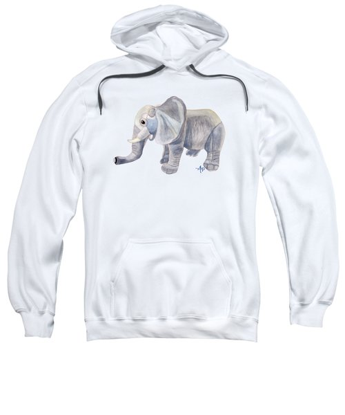 Cuddly Elephant II Sweatshirt by Angeles M Pomata