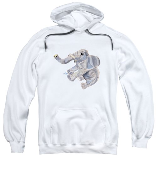 Cuddly Elephant IIi Sweatshirt by Angeles M Pomata