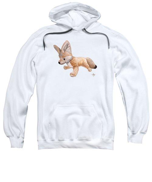 Cuddly Snow Fox Sweatshirt by Angeles M Pomata
