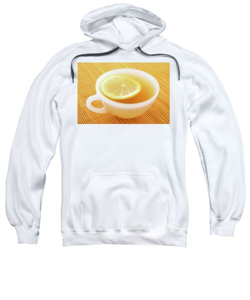 Cup Of Tea With Lemon In Warm Golden Light Sweatshirt