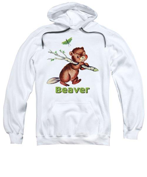 Cute Baby Beaver Pattern Sweatshirt