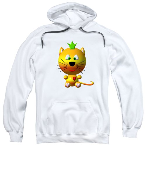 Cute Cat With Crown Sweatshirt