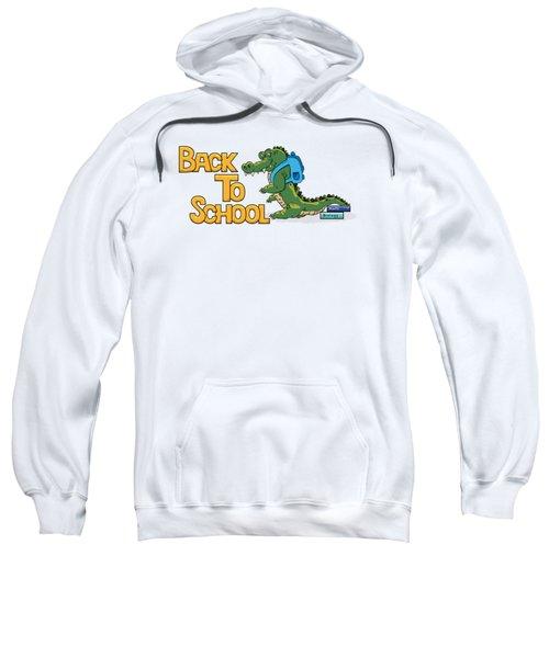 Cute Crocodile With Briefcase Sweatshirt