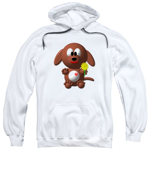 Cute Dog With Dandelion Sweatshirt