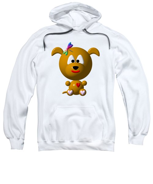 Cute Dog With Dragonfly Sweatshirt