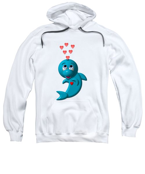 Cute Dolphin With Hearts Sweatshirt