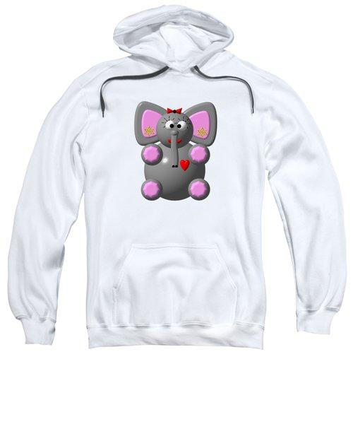 Cute Elephant Wearing Earrings Sweatshirt