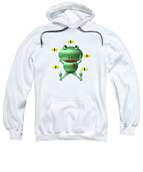 Cute Frog With Flies Sweatshirt