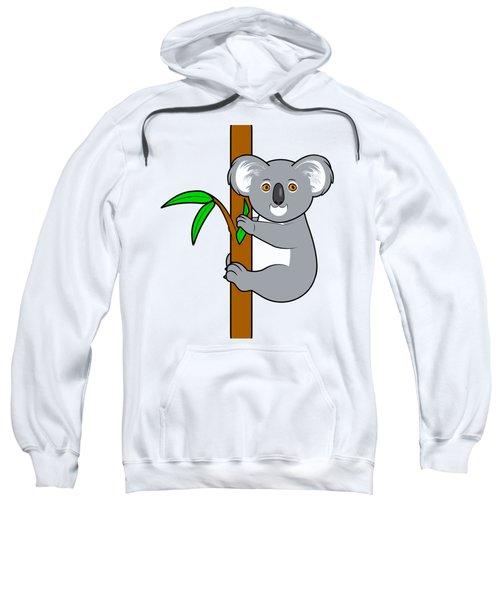 Koala With Eucalyptus Snack Sweatshirt