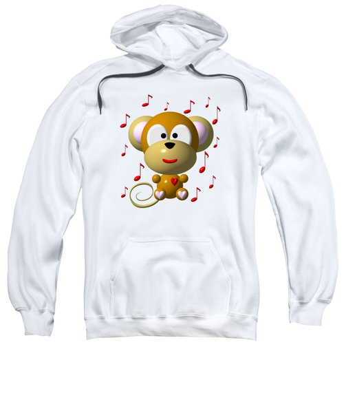 Cute Musical Monkey Sweatshirt by Rose Santuci-Sofranko