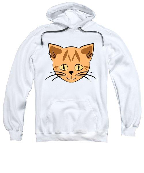 Cute Orange Tabby Cat Face Sweatshirt