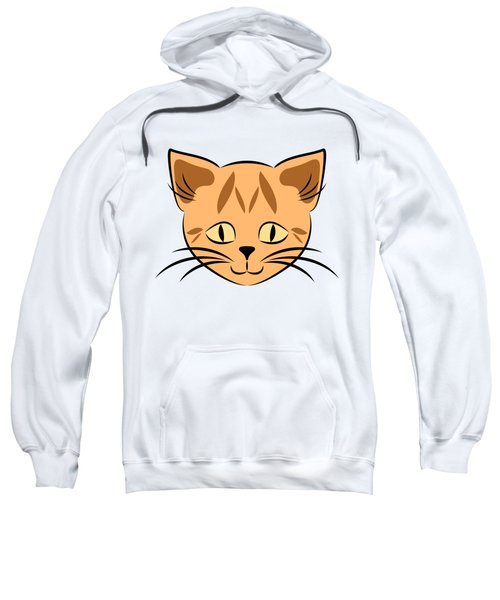 Cute Orange Tabby Cat Face Sweatshirt