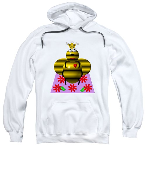Cute Queen Bee On A Quilt Sweatshirt