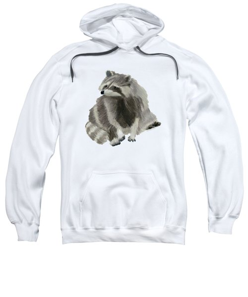 Cute Raccoon Sweatshirt by Dominic White