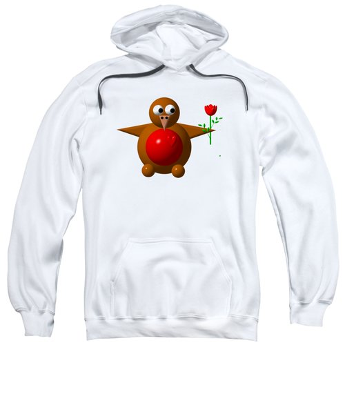 Cute Robin With Rose Sweatshirt