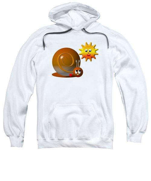 Cute Snail With Smiling Sun Sweatshirt