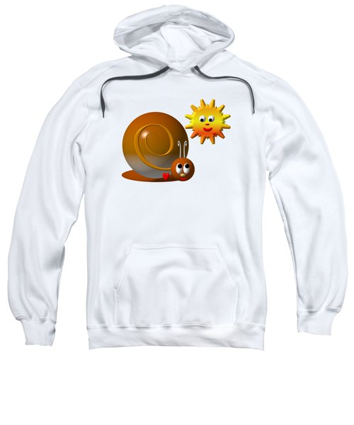 Cute Snail With Smiling Sun Sweatshirt