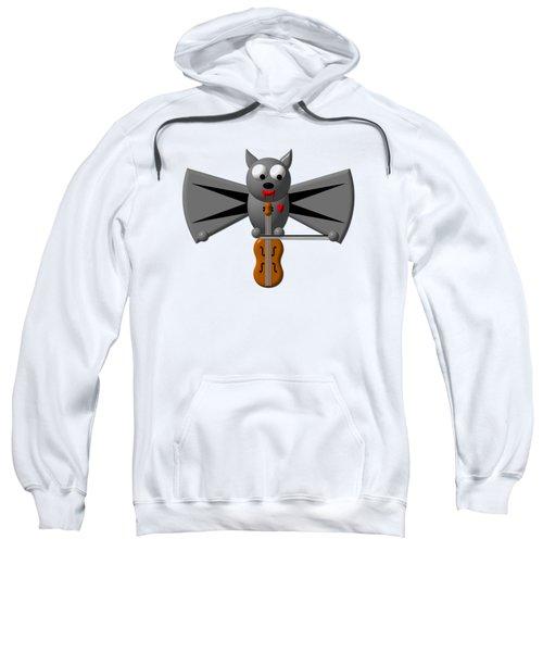 Cute Vampire Bat With Violin Sweatshirt