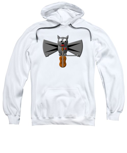 Cute Vampire Bat With Violin Sweatshirt