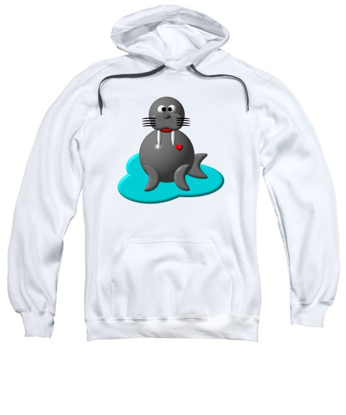Cute Walrus In Water Sweatshirt